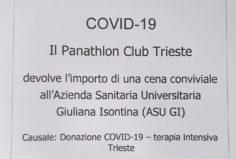 La donazione del Club per aiutare durante l'epidemia